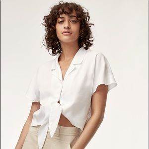 Aritiza Huang front tie blouse